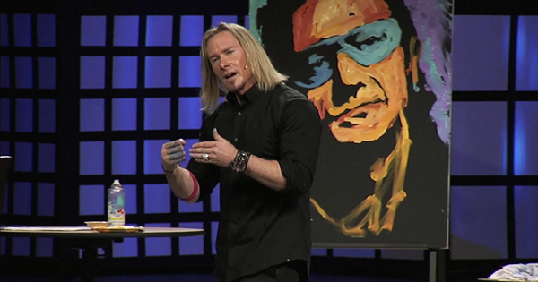 Erik Wahl on stage